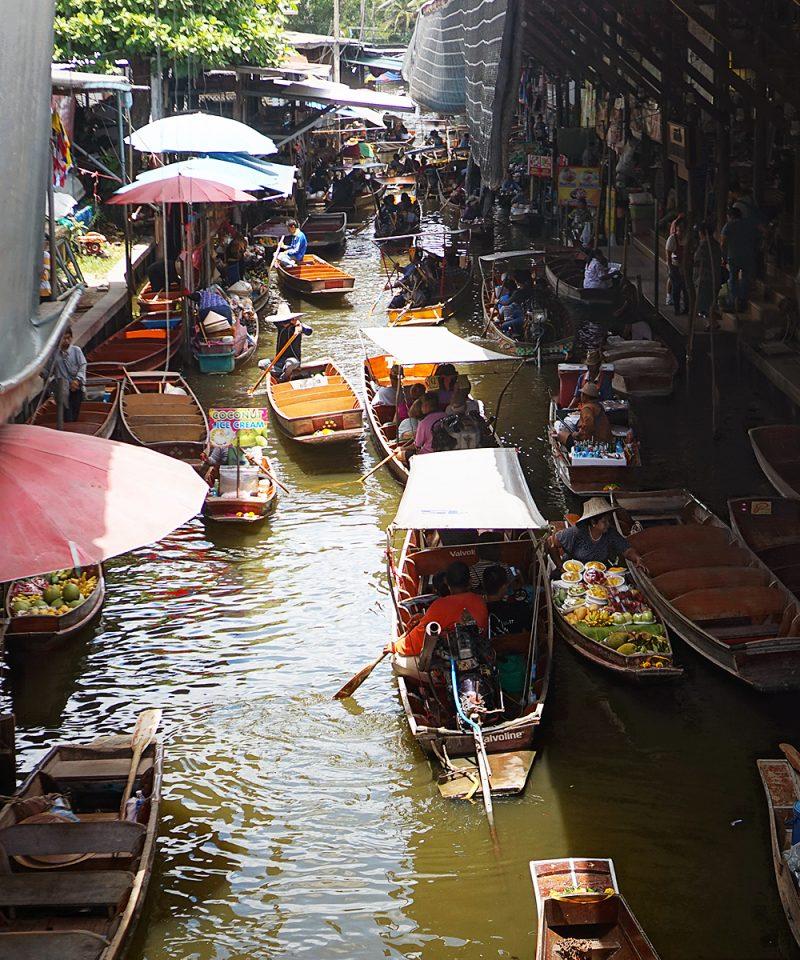 Damnoen market visite Bangkok