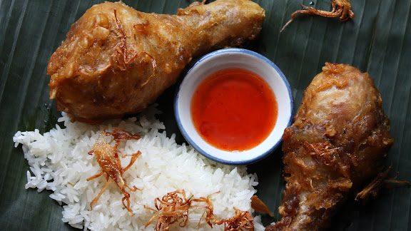 poulet frit bangkok thailande