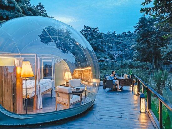 dormir dans une bulle dans la jungle thailandaise