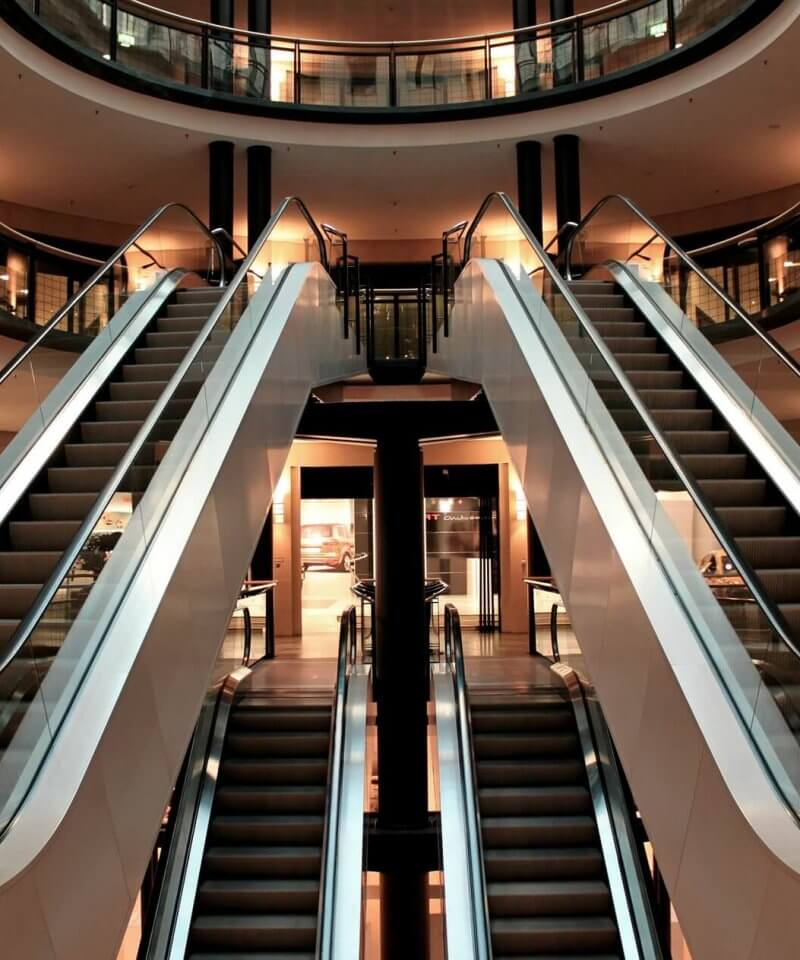 shopping mall visite